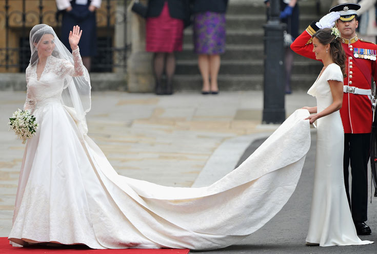 הסוד הכי שמור באנגליה נחשף. קייט והשמלה (צילום: gettyimages)