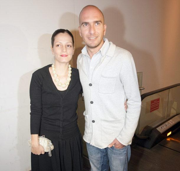 עם אשתו, ליאן פרידמן  (צילום: רפי דלויה)