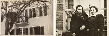 לפני המלחמה: אמו ודודתו רוחל'ה. אחרי: ברמן והבעל השני של רוחל'ה