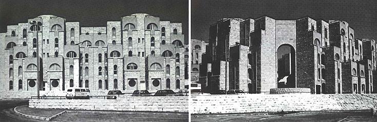 שכונת גילה. החצר הפנימית המוגנת חוזרת כמעט בכל פרויקט שהרשמן תכנן (באדיבות ארכיון אדריכלות ישראל)