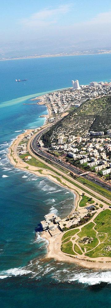 לב המאבק: 7 קילומטרים לאורך חוף חיפה (צילום: צבי רוגר)