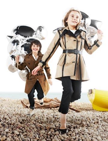 קולקציית הילדים של ברברי. גרסאות מוקטנות בסגנון בגדי המותג