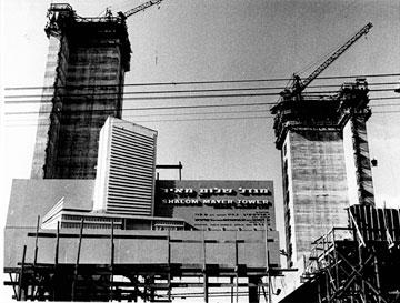 מגדל שלום בימי בנייתו. הבחירה של שהרה בלאו (צילום: באדיבות חברת כיכר הרצל)