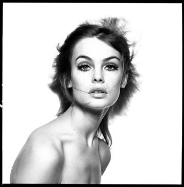 הדוגמנית ג'ין שרימפטון. סמל לשנות ה-60 העליזות (צילום: דיוויד ביילי )