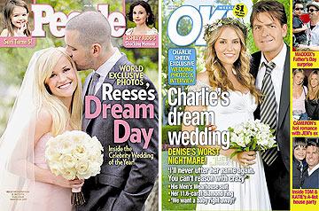 """""""תמיד מחתימים אותי על סודיות"""". החתונות של צ'ארלי שין וריס ווית'רספון"""