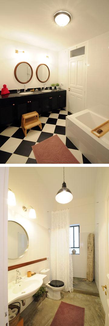 חדרי הרחצה (צילום: נעמה כנפו, סטודיו Architype)