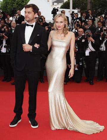 דיאן קרוגר. השמלה הנכונה, הגוף הנכון והגבר הנכון (צילום: gettyimages)