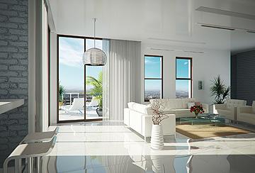 זאת הדמיית דירת 5 חדרים בפרויקט (הדמיה)