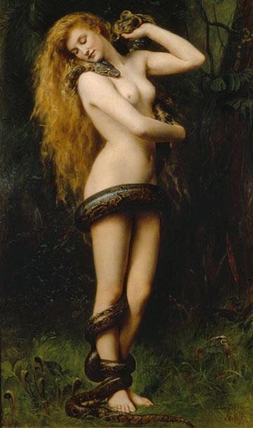 אישה פתיינית. לילית של ג'ון קולייר, 1892 (John Collier)