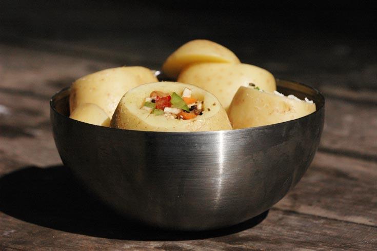 יש גם גרסה במילוי גבינה. תפוחי האדמה (צילום: ליאור צאליק)