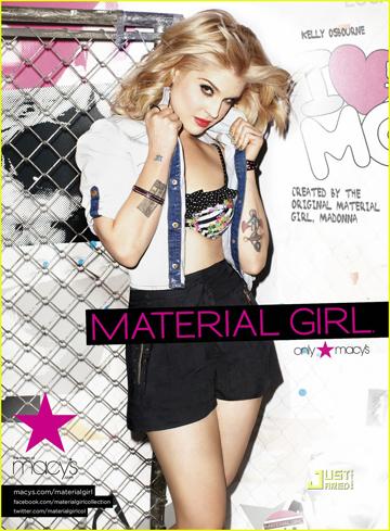 קלי אוסבורן בקמפיין של Material Girl. לורדס מעריצה אותה