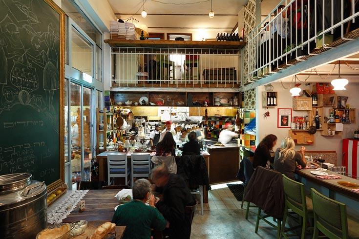מסעדת מחניודה בירושלים. תכנון מפתיע בפשטותו (צילום: שי אפשטיין)