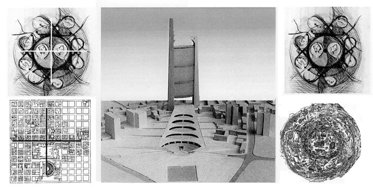 עולם ההשראה: המקרא, המנדלות הטיבטיות, ואפשר גם לזהות ין-יאנג סיני - כולם אומרים סימטריה (הדמיה: רם כרמי אדריכלים)