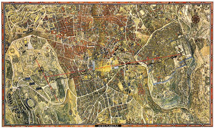 הציר שנמתח בין משכן הכנסת לעיר העתיקה דרך גן העצמאות, הוא הוא טבור העולם והיקום (הדמיה: רם כרמי אדריכלים)