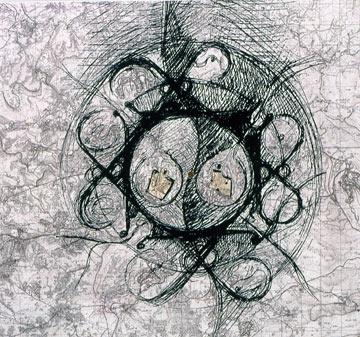 השראה ל''מרכז היקום'', שהאמין שיציל את מרכז ירושלים (הדמיה: רם כרמי אדריכלים)
