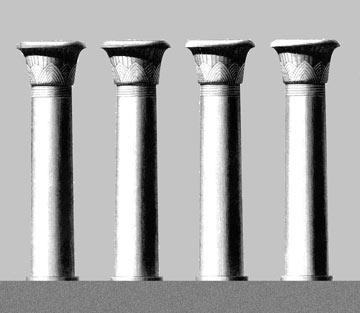 4 המגדלים מבקשים לצטט את העמודים הללו (הדמיה: רם כרמי אדריכלים)