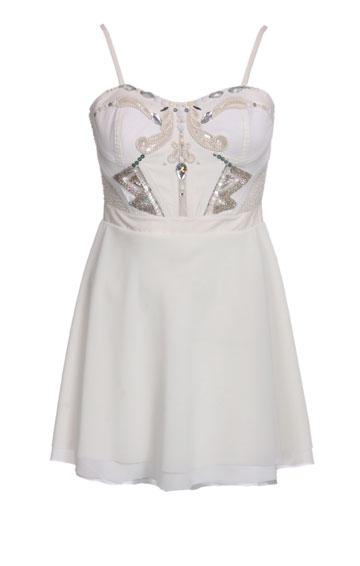 שמלת המיני שעיצב ליבנה למימון (צילום: ניר יפה)