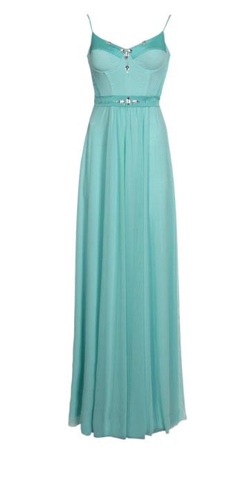 שמלת הערב שעיצב ליבנה למימון (צילום: ניר יפה)