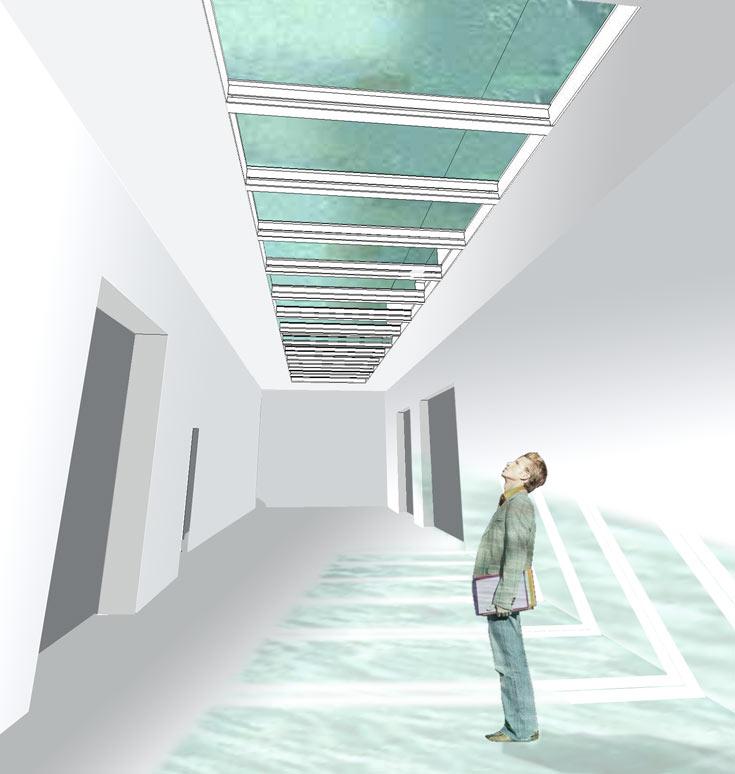 הדמיה של אחד החללים במוזיאון בפלראדינגן