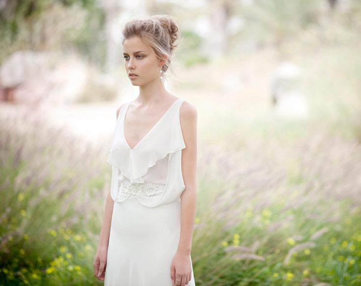 אלון ליבנה. מעצב האופנה מציע שמלות מעונות קודמות לצד קו שמלות כלה מוזלות בסטודיו (צילום: דודי חסון)