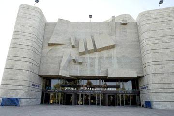 תיאטרון ירושלים, מול הווילה. שרובר מימן שליש מעלות הפרויקט (צילום: סבסטיאן שיינר)
