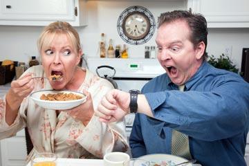 ארוחת בוקר שיגרתית? זהו מצבים מלחיצים (צילום: thinkstock)