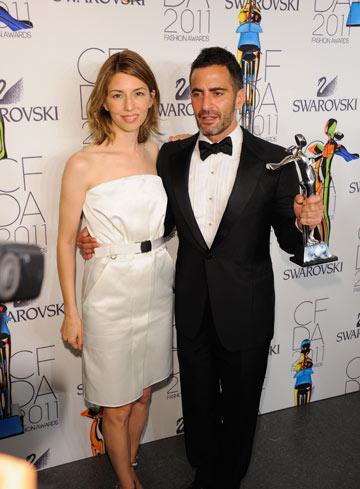 מארק ג'ייקובס וסופיה קופולה. זוכה פרס מפעל חיים (צילום: gettyimages)