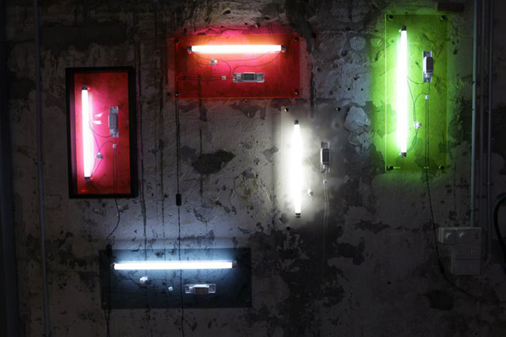 5. מנורות הלד של נעמה הופמן. עוד גופי תאורה מוצלחים שלה הוצגו ברפסודה, ונמצאים בכתבה המצורפת (צילום: נעמה הופמן)