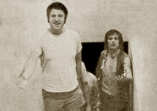 עם אורי זהר, 1971 (באדיבות להיטון)