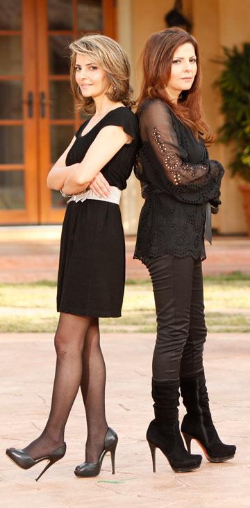 מה את עושה פה? האחיות זהבה בן ואתי לוי (צילום: Hc Van Urfalian)