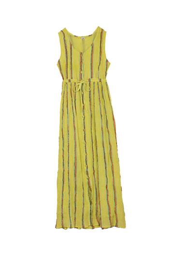 שמלה צהובה של Vanity. כמה שיותר צבע (צילום: טל טרי)