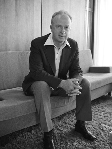 יצחק רבין. הפך לסלבריטי ב-1967 (צילום: דוד רובינגר)