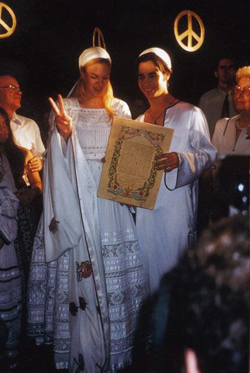 תלבושות תואמות בחתונה עם הו אילנה (צילום: רפי דלויה)