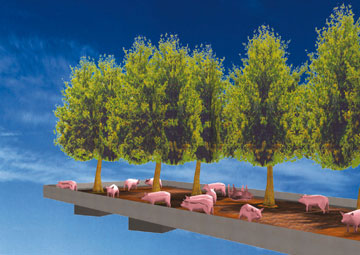חוות החזירים האנכית. פרויקט סביבתי שפרץ את דרכו של המשרד (באדיבות MVRDV)