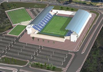 הדמיית האצטדיון החדש (הדמיה: עיריית פתח תקוה)