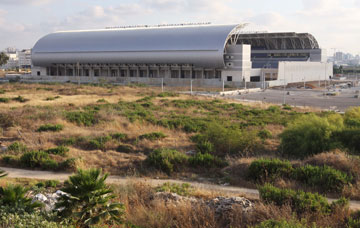 ''אצטדיון המושבה''. ישרת 12 אלף צופים בשלב א' (צילום: עידו ארז )