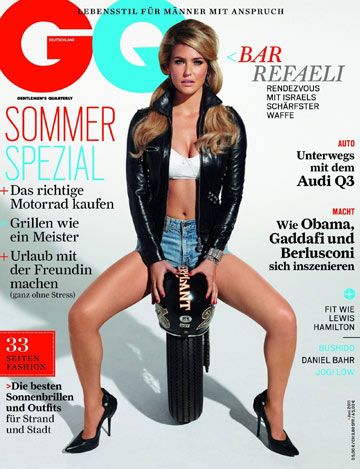 בר רפאלי על שער GQ הגרמני. גוף מושלם ופני מלאך