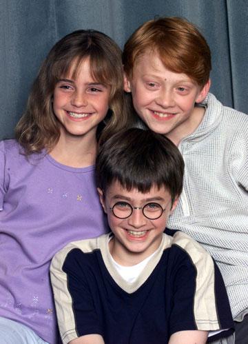 חבורת ''הארי פוטר''. קאסט של ילדים חמודים (צילום: gettyimages)