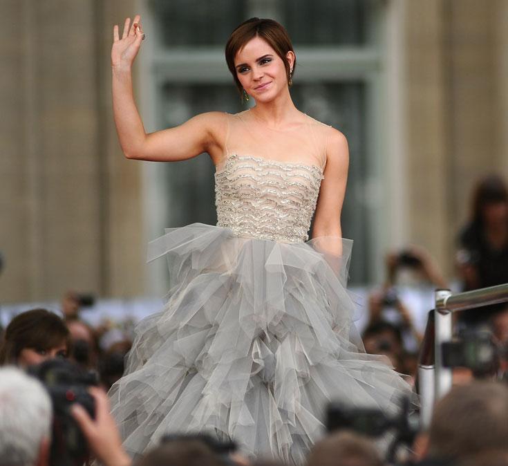 אמה ווטסון. השיער הנכון, השמלה הנכונה והמבטא הנכון (צילום: gettyimages)