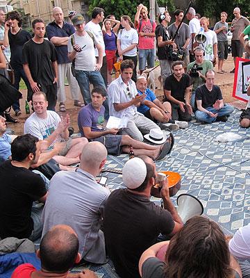 """""""""""יש פה אי שוויון ואי צדק"""". בר גפן על המחאה החברתית (צילום: סתיו שפיר)"""
