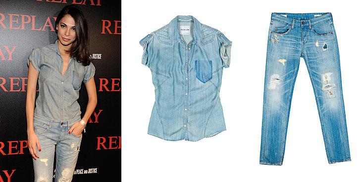 טוטאל לוק ג'ינס: מורן אטיאס עושה כבוד לריפליי. חולצה: 499 שקל, ג'ינס: 1,999 שקל