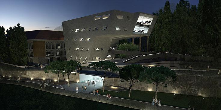 זאהה חדיד תורמת לביירות את הפקולטה למדיניות ציבורית ויחסים בינלאומיים באוניברסיטה האמריקאית (הדמיה: Zaha Hadid Architects)
