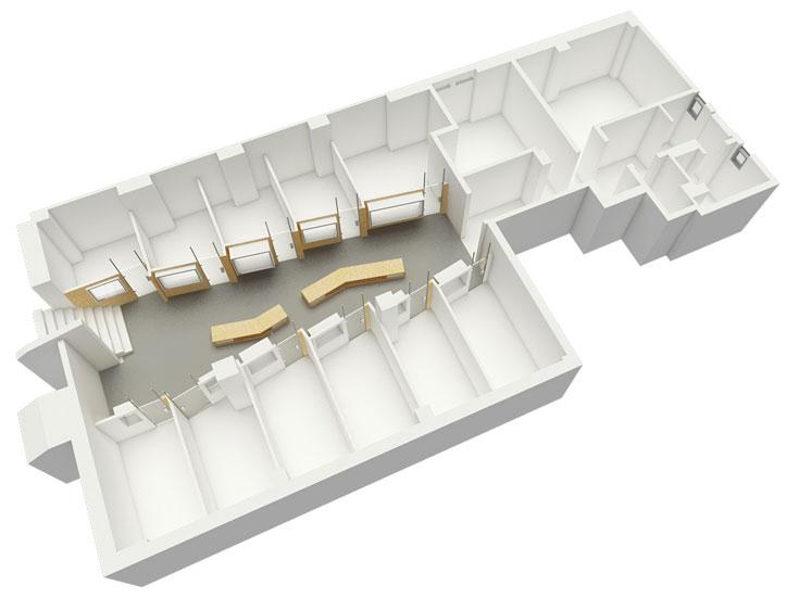 בית ''מעצבים בעיר'' בירושלים, שהם תיכננו. ''אנחנו מאמינים בתכנון שמתחיל בתלת-ממד ולא בדו-ממד, ולעסוק בטכנולוגיה עכשווית'' (עיצוב: סטודיו  o2a)