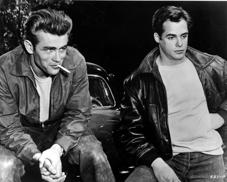 מורדים עם שיק. קורי אלן וג'יימס דין (משמאל) (צילום: gettyimages imagebank)