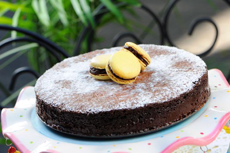 בלי גלוטן, אבל עם המון שוקולד. העוגה (צילום: דודו אזולאי)