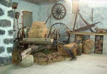 אסם משוחזר בכפר. גרעין הכפר הוקם לפני 130 שנה (צילום: עדי אדר)