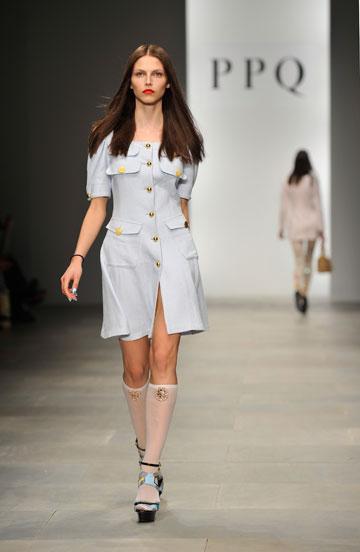 תצוגת האופנה של PPQ לקיץ 2012. הפסטל שולט (צילום: gettyimages)