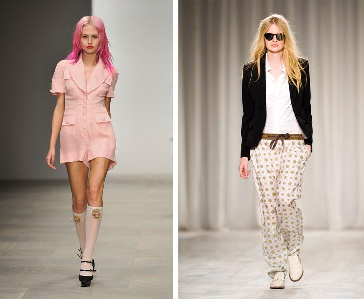 תצוגת האופנה של פול סמית (מימין) ושל PPQ. אפילו אנה ווינטור החמיאה לארגון וליצירתיות (צילום: gettyimages)