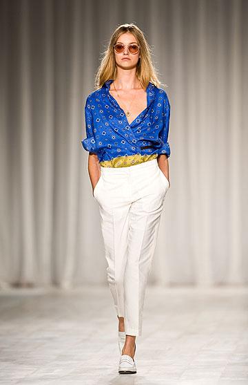 תצוגת האופנה של פול סמית לקיץ 2012. בגדים פראקטיים ונחשקים (צילום: gettyimages)