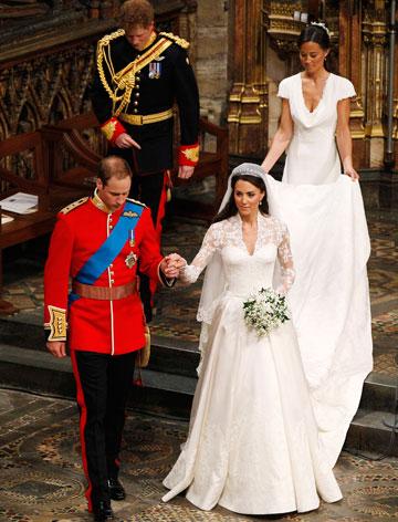 החתונה המלכותית. עמדה בכל כללי הטקס (צילום: gettyimages)